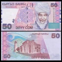 KIRGHIZISTAN - Billet de 50 Som - Kurmanjan Datka - 2002