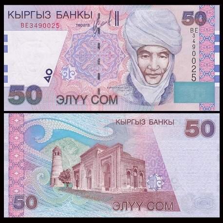 KIRGHIZISTAN - Billet de 50 Som - Kurmanjan Datka - 2002 P20a