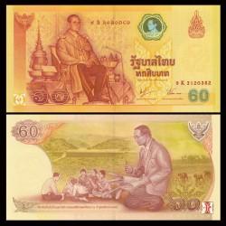 THAILANDE - Billet de 60 Baht - 60e anniversaire de l'accession au trône - VERSION ALBUM - 2006