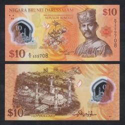 BRUNEI - Billet de 10 Ringgit / Dollars - Sultan Hassan al-Bolkiah I - Polymer - 2011