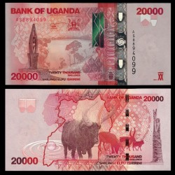 OUGANDA - Billet de 20000 Shillings - Buffle - 2013