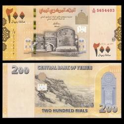 YEMEN - Billet de 200 Rials - Forteresse de Zabid - 2018