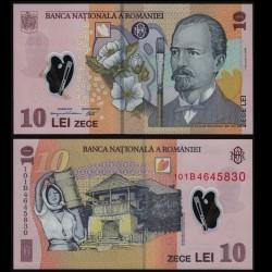 ROUMANIE - Billet de 10 Lei - Nicolae Grigorescu - Polymer - 2010
