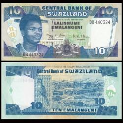 SWAZILAND - Billet de 10 Emalangeni - Roi Mswati III - 2006