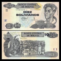 BOLIVIE - Billet de 10 Bolivianos - Peintre Cecilio Guzman de Rojas - 2015