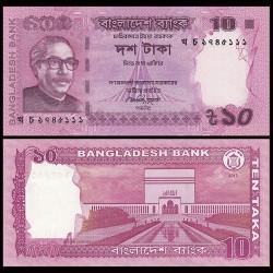 BANGLADESH - Billet de 10 Taka - Mosquée Baitul Mokarram - 2012