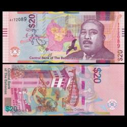 BAHAMAS - Billet de 20 Dollars - Tour du port de Nassau - 2018