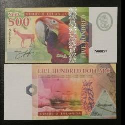 NIMROD ILANDS / ILES NIMROD - Billet de 500 DOLLARS - Ara / Bouquetin - 2018