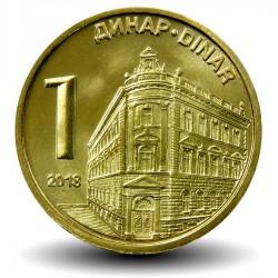 SERBIE - PIECE de 1 Dinar - Banque Nationale de Serbie - 2013