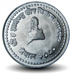 NEPAL - Pièce de 25 Paisa - Bodnath - 2002