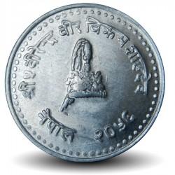 NEPAL - PIECE de 25 Paisa - Gyanendra Bir Bikram - 1999 - २०५६ Km#1015.2