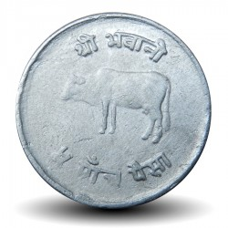 NEPAL - PIECE de 5 Paisa - Vache sacrée - 1979 - २०३६