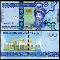 TURKMENISTAN - Billet de 100 Manat - 2014