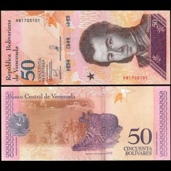 VENEZUELA - Billet de 50 Bolivares - Félin Ocelot - 15.01.2018
