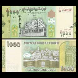 YEMEN - Billet de 1000 Rials - Forteresse de Zabid - 2017