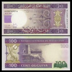 MAURITANIE - Billet de 100 Ouguiya - 2015