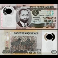 MOZAMBIQUE - Billet de 50 Meticais - Polymer - Koudous - 2017