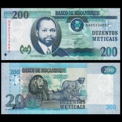 MOZAMBIQUE - Billet de 200 Meticais - Lion / Lionnes - 2011