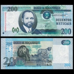 MOZAMBIQUE - Billet de 200 Meticais - Lion / Lionnes - 2011 P152a