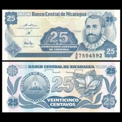 NICARAGUA - Billet de 25 Centavos de Córdoba - 1991