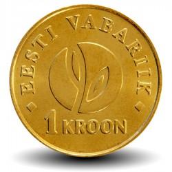 ESTONIE - PIECE de 1 KROON - 90e anniversaire de la République d'Estonie - 2008 Km#44
