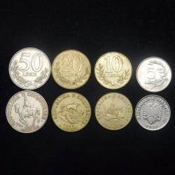 ALBANIE - SET / LOT de 4 PIECES - 5 10 20 50 LEKE - 1995 1996