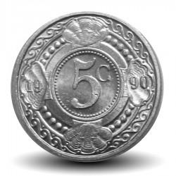 ANTILLES NEERLANDAISES - PIECE de 5 Cents - Fleur d'oranger - 1990