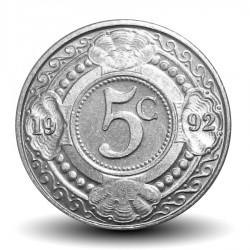 ANTILLES NEERLANDAISES - PIECE de 5 Cents - Fleur d'oranger - 1992