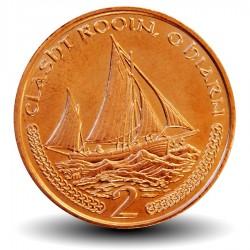 ILE DE MAN - PIECE de 2 Pence - Bateau de pêche - 2002