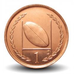 ILE DE MAN - PIECE de 1 Penny - Ballon de rugby - 1997