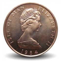 ILE DE MAN - PIECE de 2 Pence - Faucon pèlerin - 1984