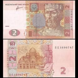 UKRAINE - Billet de 2 Hrivni - Prince Yaroslav - 2011 P117c