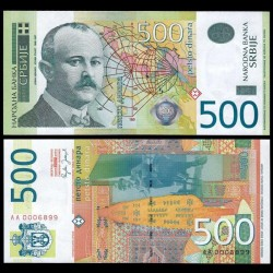 SERBIE - Billet de 500 Dinara - 2007 - Jovan Cvijić