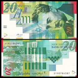 ISRAEL - Billet de 20 New Shekels - Moshe Shertok - 2014 P59d