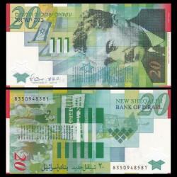ISRAEL - Billet de 20 New Shekels - Moshe Shertok - Polymer - 2008