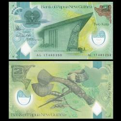PAPOUASIE NOUVELLE GUINEE - Billet de 2 Kina - Polymer - 2017 (Nouvelle Taille)