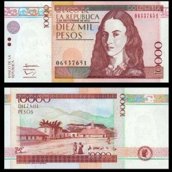 COLOMBIE - Billet de 10000 Pesos - Policarpa Salavarrieta - 2013
