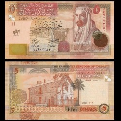 JORDANIE - Billet de 5 Dinars - Roi Abdallah bin al-Hussein - 2018