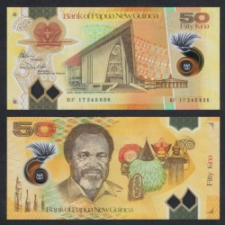 PAPOUASIE NOUVELLE GUINEE - Billet de 50 Kina - Polymer - 2017 (Nouvelle Taille) P52a