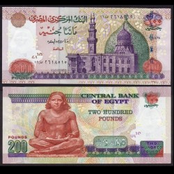 EGYPTE - Billet de 200 Pounds - Scribe - 2008