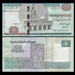 EGYPTE - Billet de 5 Pounds - Horus, Dieu du Nil - 12/01/2014