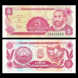 NICARAGUA - Billet de 5 Centavos de Córdoba - 1991