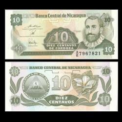 NICARAGUA - Billet de 10 Centavos de Córdoba - 1991
