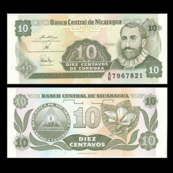 NICARAGUA - Billet de 10 Centavos de Córdoba - 1991 P169a2