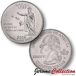 ETATS-UNIS / USA - PIECE de 25 Cents (Quarter States) - Hawaii - 2008