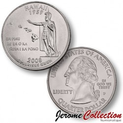 ETATS-UNIS / USA - PIECE de 25 Cents (Quarter States) - Hawaii - 2008