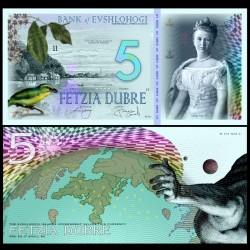 ILE EVSHLOHOGI - Billet de 5 Dubre - Oiseau - 2018 0005