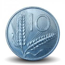 ITALIE - PIECE de 10 Lires - Deux épis de blé - 1989