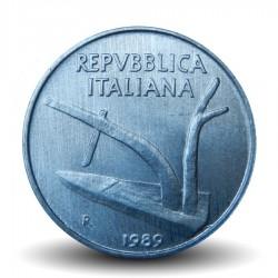 ITALIE - PIECE de 10 Lire - Deux épis de blé - 1989