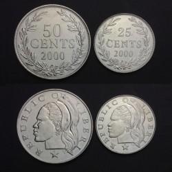 LIBERIA - SET / LOT de 2 PIECES de 25 50 Cents - 2000